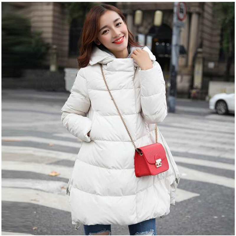 ФОТО 2016Winter Thick Coat Women A Word Version And Long Winter Jacket Women Parka Down Jacket Manteau Femme Slim Fashion Parka A2235