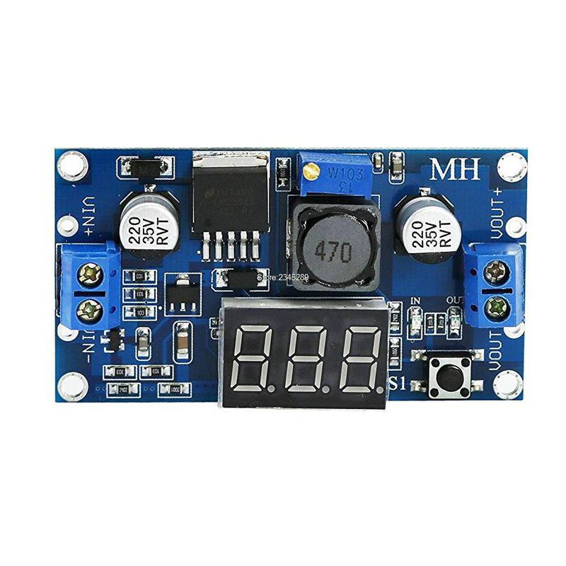 LM2596 LM2596S Voltmeter ADJ DC-DC Step-down Step Down Adjustable Power Supply Module With Digital Display 1pcs dc dc lm2596 adj lm2596s dc dc adjustable buck module