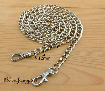 Bag chain purse chain for bag metal shoulder chain cross body strap chain nickel 106 cm Z31