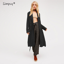 Casaco Feminino Special Offer Wide-waisted Full Casual Button Autumn Winter Women New Arrival Long Cool Trench Coat For