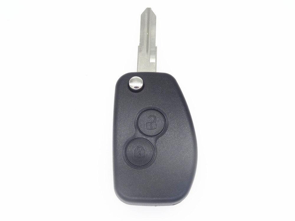 Replacement Remote Case Refit 2 BTN Flip Key Shell fit for Nissan Almera 1913goda uncut blade