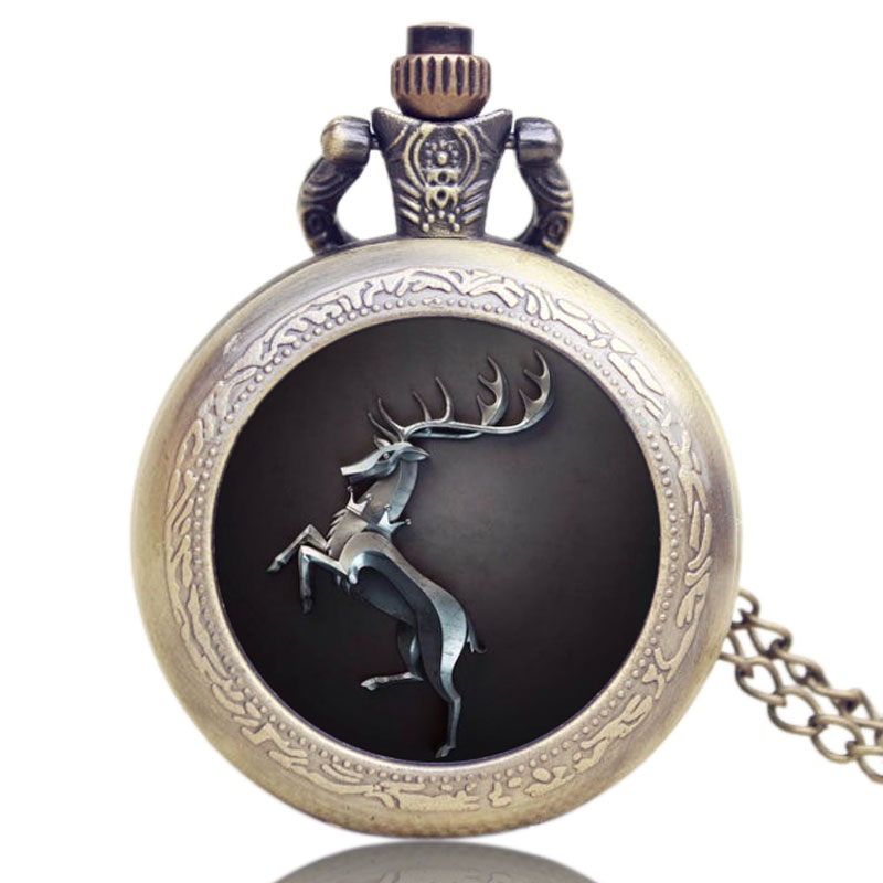 Hot Fashion US TV Series Game of Thrones Theme Pocket Watch Gift Men Women Quartz Pendant Watches for Fans hot theme masonic freemason freemasonry g pocket watch men gift watch free shipping p1198