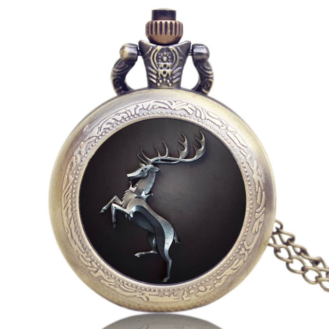 Hot Fashion US TV Series Game of Thrones Theme Pocket Watch Gift Men Women Quart