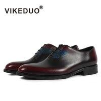 VIKEDUO 2018 Винтаж Туфли под платье Для мужчин Классические бабочка живопись туфли на официальное событие мужские свадебные офисная обувь из на