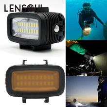 lensoul 40M/130ft Underwater Waterproof Sports Camera Swimming Diving Video LED Light For Gopro Camera