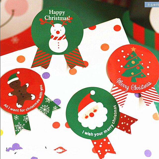 240x Merry Christmas Santa Claus Badge Gift Sticker Label Seal Envelope Gift Box Wrapping Craft Baking
