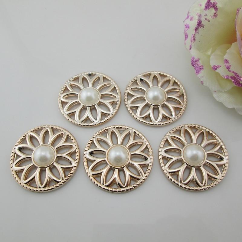 (PB127 35mm)100pcs Round White Pearl Plastic Rhinestone Embellishment For Craft UV Plating