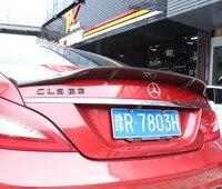 JINGHANG Carbon Fiber Car Rear Wing Trunk Lip Spoilers For Benz CLS W218 C218 CLS 280 CLS300 CLS350 CLS500 CLS550 2012 2018