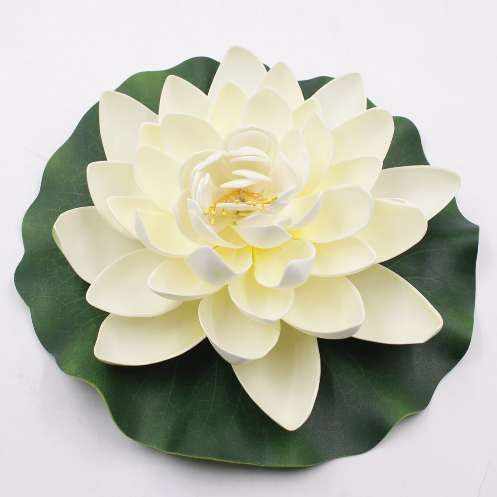 1 pcs lot 28 cm artificial silk foam flowers fake bouquet for the 1 pcs lot 28 cm artificial silk foam flowers fake bouquet for the wedding bouquet lotus decoration lotus water lily in artificial dried flowers from izmirmasajfo