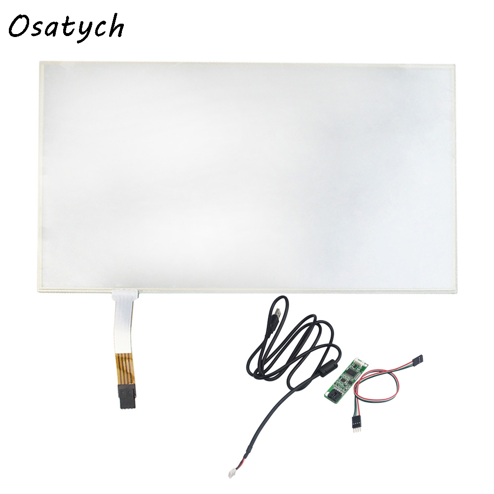 13.3 Inch For 299*195mm Touch Screen panels 4 wire resistive USB touch panel overlay kit Replacement Free Shipping 15 inch 4 wire touch screen usb port controller card function glass repair replacement 322 247mm touch panel free shipping