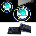 2x For Skoda Octavia A7 A5 A4 RS Tour Fabia 1 Rapid Yeti Superb 2 3 Felicia Vrs Citigo LED Car Door Warning Light Logo Projector