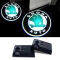 2x Para Skoda Octavia A7 A5 A4 Gira Fabia RS 1 Rápida Yeti Superb 2 3 Vrs Felicia Citigo LED Luz de Advertencia de Puerta de Coche Logo Proyector