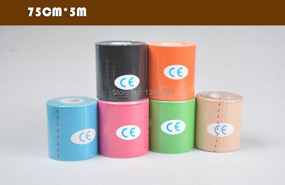 Stretch cotton 7.5cm 5m Self-adhesive elastic bandage sport tape kinesiology knee Elbow  taping