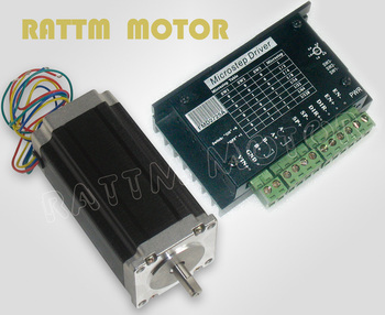 Nema23 CNC stepper motor 425 oz-in,112mm,3.0A & Driver 40V,128 microstep and 2.5A current image