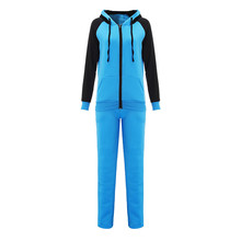 2016 Winter Autumn Women Hoodies Thick Long Sleeve Casual Hooded Sweatshirt Long Pants Trousers Two Piece Set Tracksuit