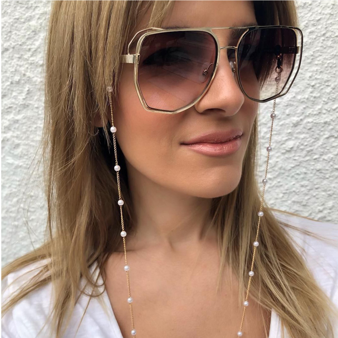 Fashion Eye Glasses Sunglasses Spectacles Chain Holder Cord Lanyard Necklace Reading Glasses Simulated Pearl Sunglasses Chain