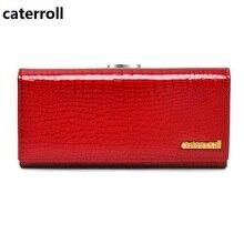 Купить с кэшбэком genuine leather women wallets luxury brand ladies clutch purse alligator pattern wallet long real leather purse