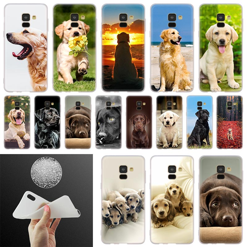 Labrador Retriever dog Phone Case For <font><b>Samsung</b></font> <font><b>Galaxy</b></font> A10 <font><b>A20</b></font> A30 A40 A50 A60 A70 A6 A8 Plus A7 A9 2018 A3 A5 2017 Cover Coque image