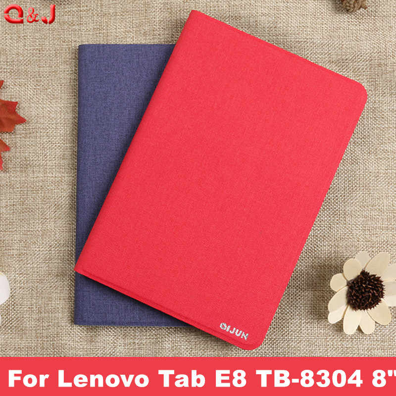 "cover case For Lenovo Tab E8 TB-8304F1 TB 8304 PU Leather Stand Cover Case For Lenovo Tab E8 TB-8304 8"" ablet cases"