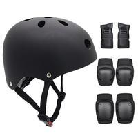 Child Skateboarding Knee Pads Elbow Pads Wrist Set Balance Car Protective Gear Helmet For Riding Electric Skateboard Roller