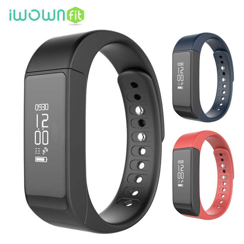 iWOWNfit i5 Plus Bluetooth Smart Bracelet Caller ID and Message Reminder Pedometer Fitness Tracker Smartband