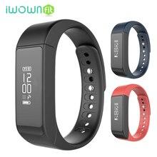 Iwownfit i5 плюс Bluetooth Smart Браслет Идентификатор вызывающего абонента и сообщение напоминание шагомер Фитнес трекер SmartBand