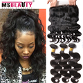 Brazilian Body Wave 360 Lace Frontal With Bundles Brazilian Virgin Hair Body Wave 3 Bundles With Frontal Closure Pre Plucked
