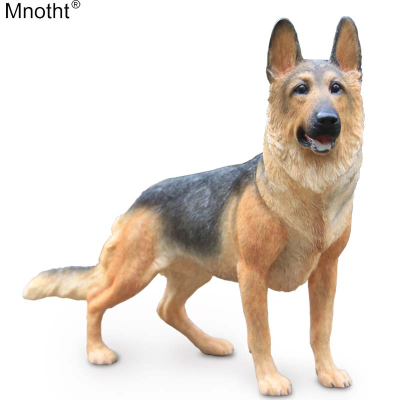 Mnotht Mini Dog Collection 1/6 Germany Shepherd Wolf Dog Model Blackback Animal Resin Toy Accessory for Action Figure Gift md lps toy pet shop sparkle eyes spotty dog action figure animal toys for children birthday gift