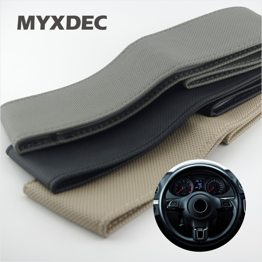 New 38CM DIY Sew-on Car Steering Wheel Cover Hole-Digging Breathable Slip-Resistant Handmade Of Sew Interior Accessories