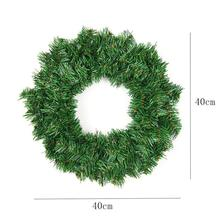 40cm Christmas Wreath Front Door Hang Garland With Pine Needles For Party Decoration