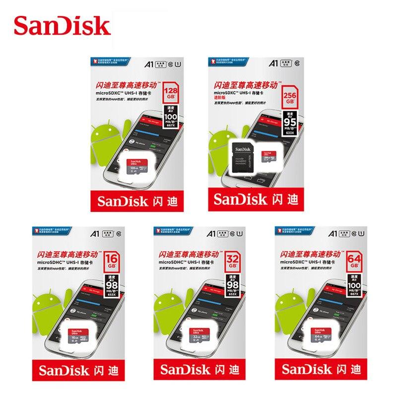 Image 5 - Карта памяти Micro SD 16 ГБ 32 ГБ 64 ГБ 128 ГБ 200 ГБ 256 Гб MicroSDHC/SDXC UHS I Ultra C10 TF карта C4 16G 32G Cartao de Memoria-in Карты памяти from Компьютер и офис
