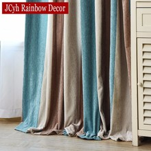 JCyh Modern Color Blackout Curtains Window Curtains For Living Room Bedroom Striped Children Curtains For Kids Blinds Drapes