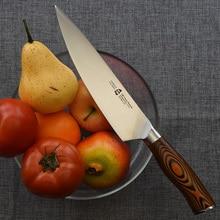 """Muy hermoso 8 """"200mm chefs cuchillo de cocina de estilo japonés cultery cuchillo de carnicero alemán x50 de acero mango de madera de color muy sharp"""