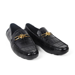 Image 4 - Vikeduo 2020 Handmade Luxury Shoes Fashion Party Casual Designer Moccasins Alligator Genuine Leather Crocodile Skin Men Shoes