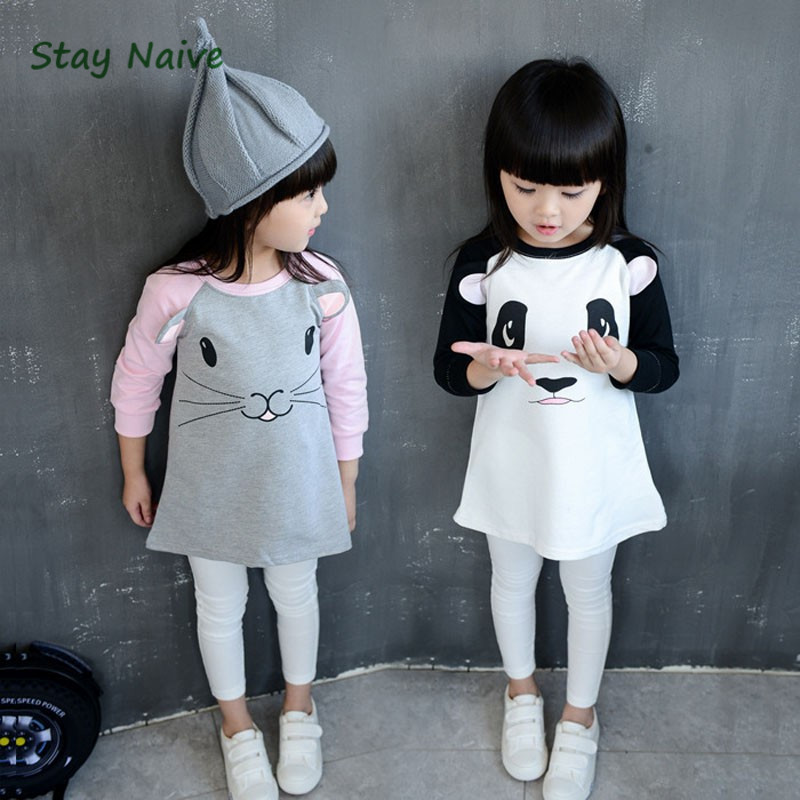 Stay Naive 2017 autumn new Europe and three-dimensional mouse ears panda girls long-sleeved dress face recognition using three dimensional and multimodal images