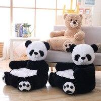 50 см плюшевое животное панда и медведь плюшевые игрушки стул детский подарок на день рождения