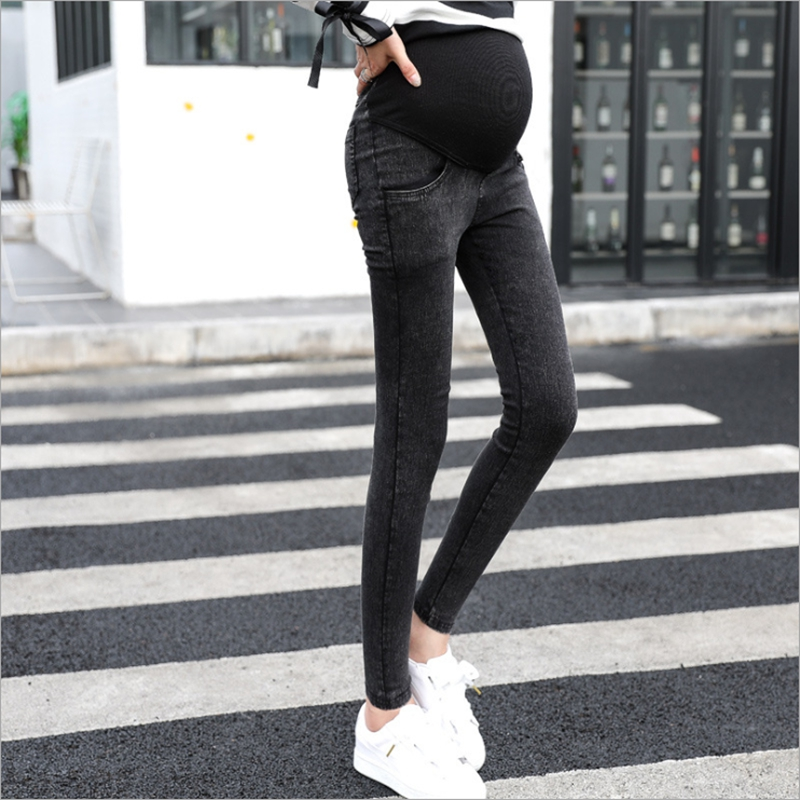 Pregnant women clothing jeans pregnant women pregnant stretch large size pregnant women pants elastic waist grossesse size M 3XL in Jeans from Mother Kids