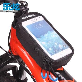 ROSWHEEL FIETSTAS MTB BIKE voorframe top tube bag fietsen tassen accessoires waterdicht anti slip BODEM BOVENSTE BUIS TAS