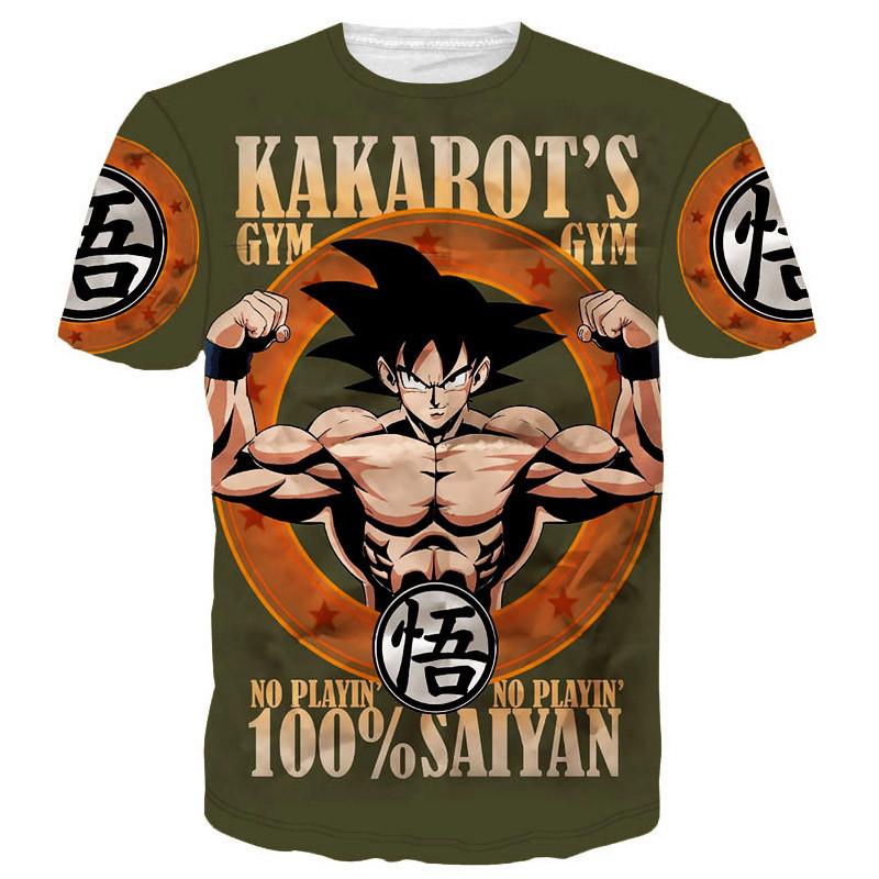 Harajuku classic cartoon dragon ball t shirt super saiyan armour 3d t shirt men anime goku vegeta t shirts DBZ tees summer tops19-1