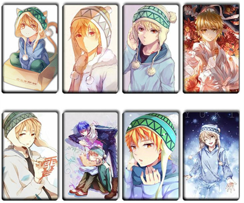 8 pcs lot lovely noragami stickers classic toys