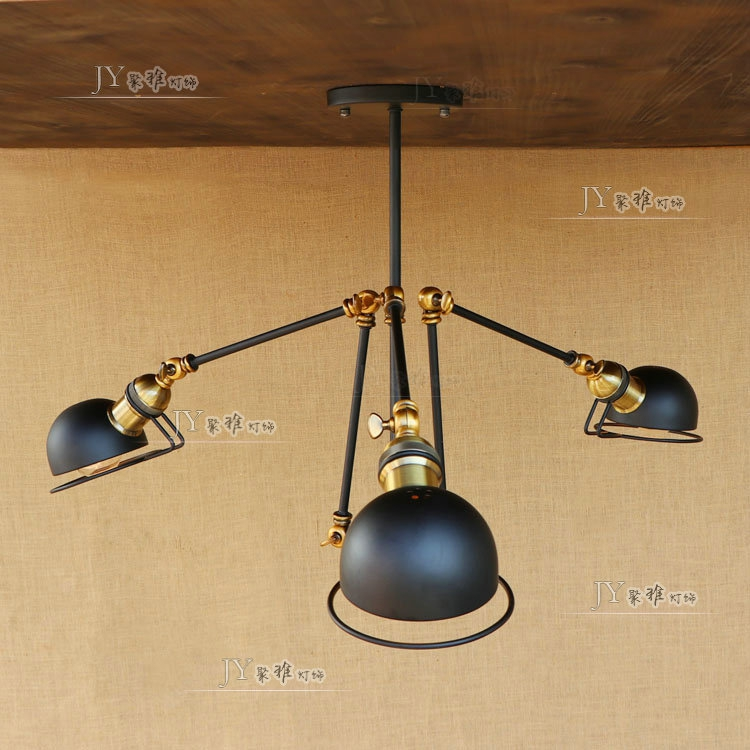 Loft American Vintage Pendant Lights Swing Arm E27 110/220v Antique Pendant Lamp For Home Decor Restaurant Lighting Removing Obstruction Ceiling Lights & Fans