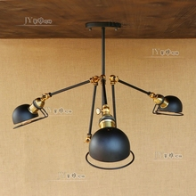 Deevolpo Loft American Vintage Pendant Lights Swing Arm E27 110 220v Antique