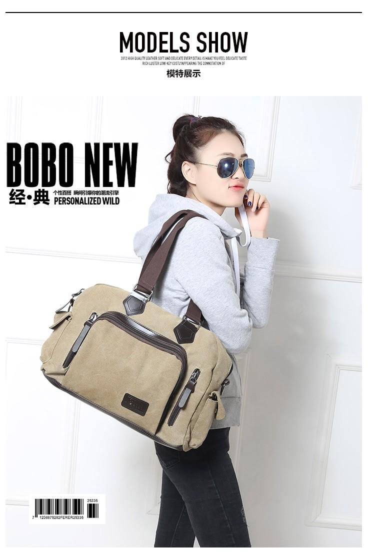 2016 men\'s travel bag canvas men messenger bag brand men\'s bag vintage style briefcase,Travel Shoulder bag (9)
