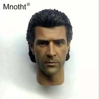 Mnotht 1:6 Scale Mel Gibson Head Sculpt Model Lethai weapon RM014/15 Male Soldier Head Carving Toys For 12in Action Figures m3