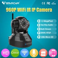 VStarcam T6836WTP Wireless Camera Audio Recording Built In Memory Storage IR Cut Infrared Pan Tilt Indoor