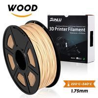 wood fiber 3d printer filament SUNLU PLA 3d filament 1.75mm/3.0mm 1kg wood fialment with 15%wood fiber & 85%PLA no bubble