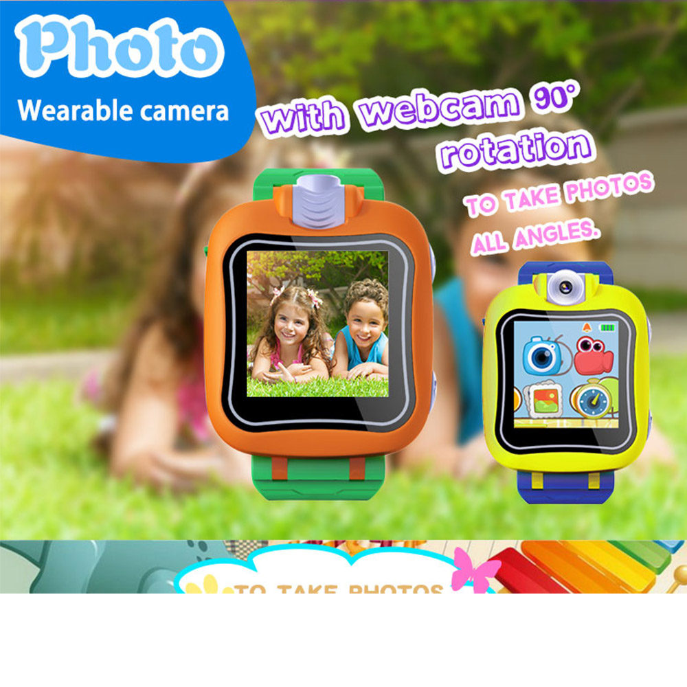 kids smart watch 1.5 inch touch screen smartwatch with camera video games play fashion children games smartwatch