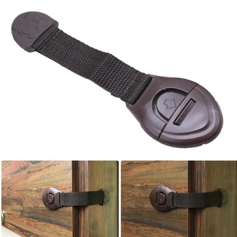 Multifunctional Child Safety Door Cabinet Drawer Ribbon Refrigerator Lock Baby Infant Cloth Wardrobe Lock Safety Protect Black