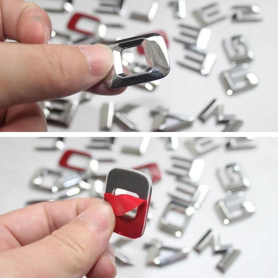 3D krom E sınıfı W212 W213 amblemi E200 E300 E320 E350 mektup oto araba Sticker rozeti logosu Emblema mercedes benz için mercedes Benz AMG