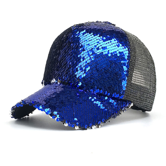 Ultra-slim Running Cap Men Women Summer Outdoor Sport Hat Running Visor Cap Glitter Ponytail Mesh Adjustable Baseball Sport Caps 3
